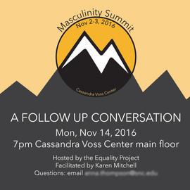 Follow-up event flier Cassandra Voss Center, 2016