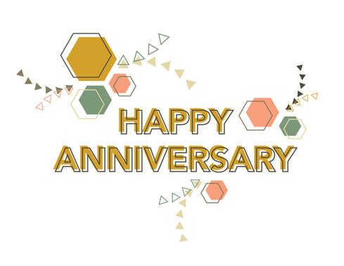 Geometric Anniversary Card