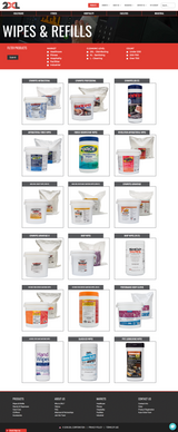 Wipes & Refills page