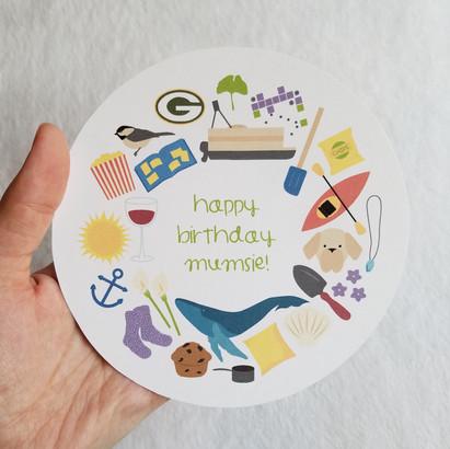 Personalized Birthday Card: Mom