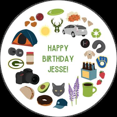 Personalized Birthday Card: Jesse