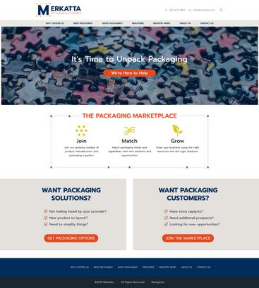 Merkatta Website Design
