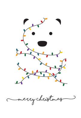 Minimalist Polar Bear Card
