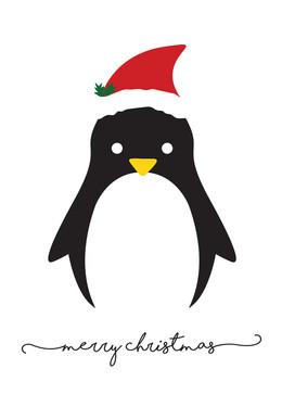 Minimalist Penguin Card