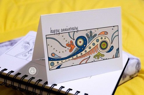 Abstract Anniversary Card