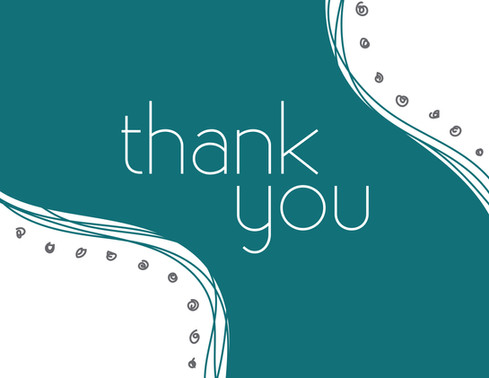 Teal Wave Thank You Card