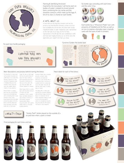Poster of design/product breakdown SNC Class Project, 2015