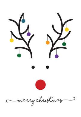 Minimalist Reindeer Card