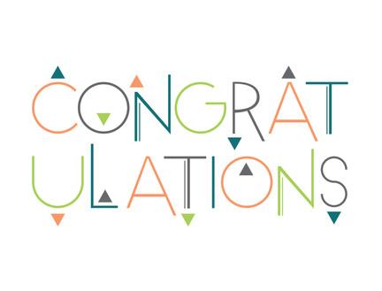 Congratulations Funky Triangle Card