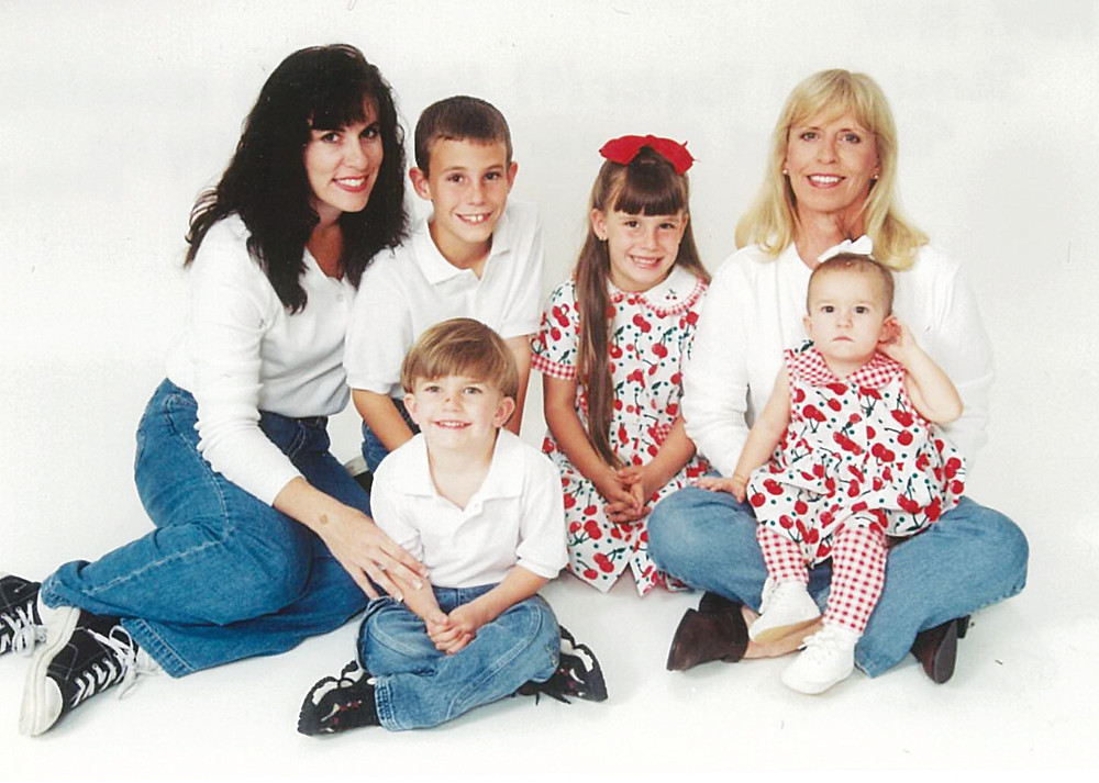 My Single Parent Family with My Mom/Nana--About the time Kelsea gave her doll to an orphan girl in Tijuana--1997