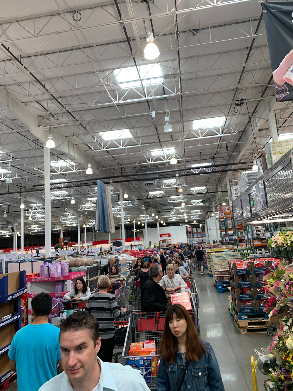 The Line Behind Me in Costco Today, 3/12/20