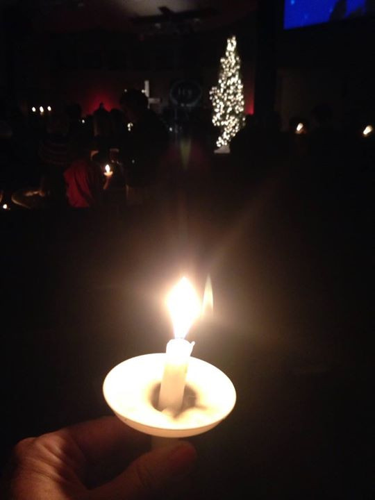 Our Candle Light Worship Service at Christmas, 2019