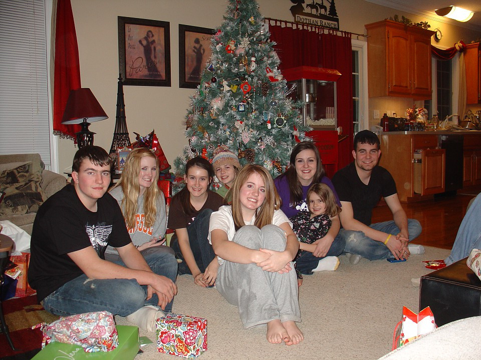 Christmas 2009; From Left: Connor, Tarah, Emily, Rachel, Haley, Kelsea, Gracie, Taylor
