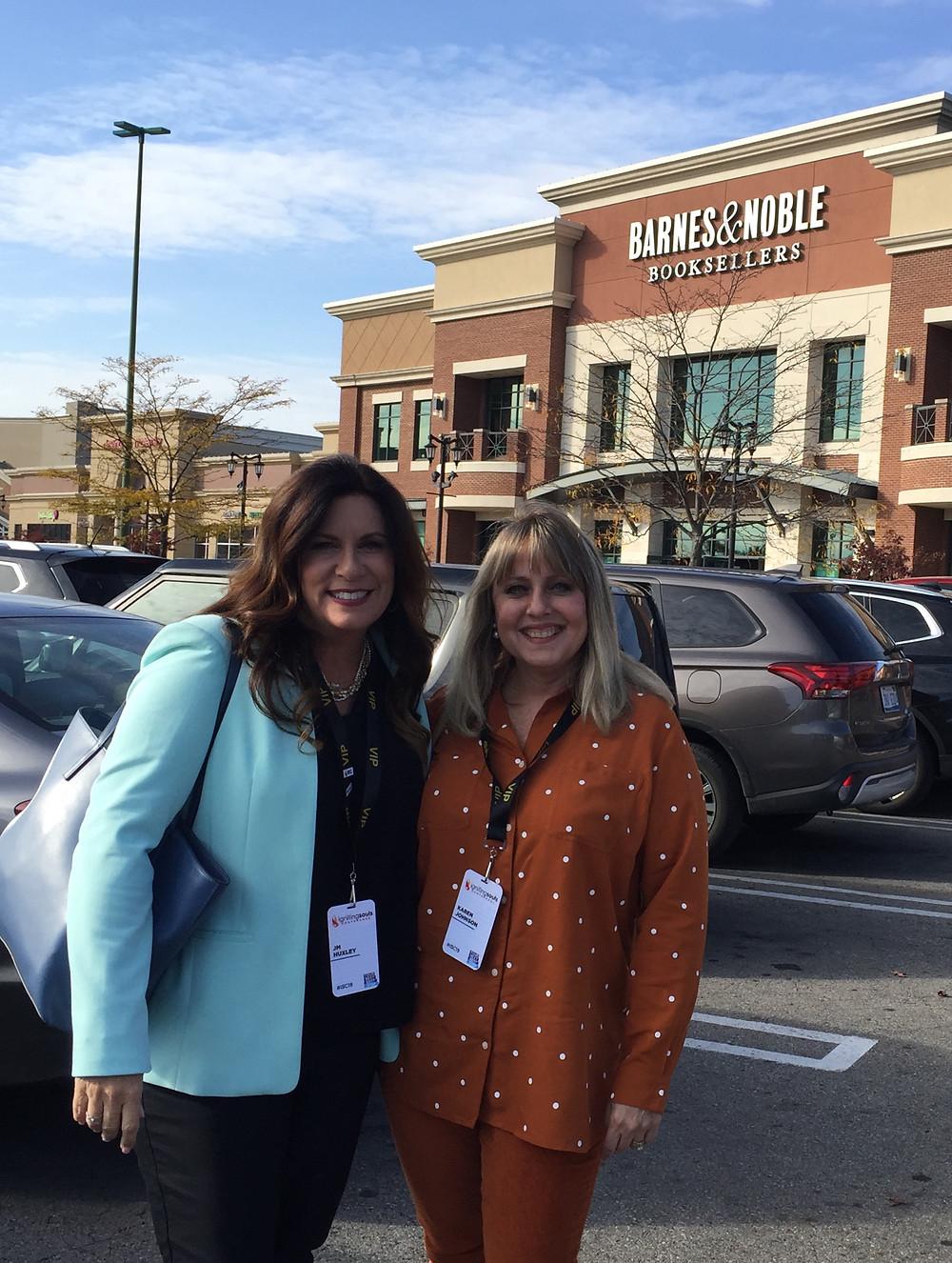 Kansas City Authors J. M. Huxley and Karen Johnson at Book Signing in Columbus, Ohio, October 2019