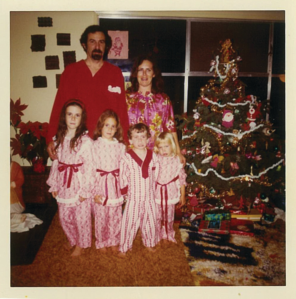 A Huxley Christmas, Circa 1971; Dad and Mom in back; Me, Jeane, Jimmy, Jackie