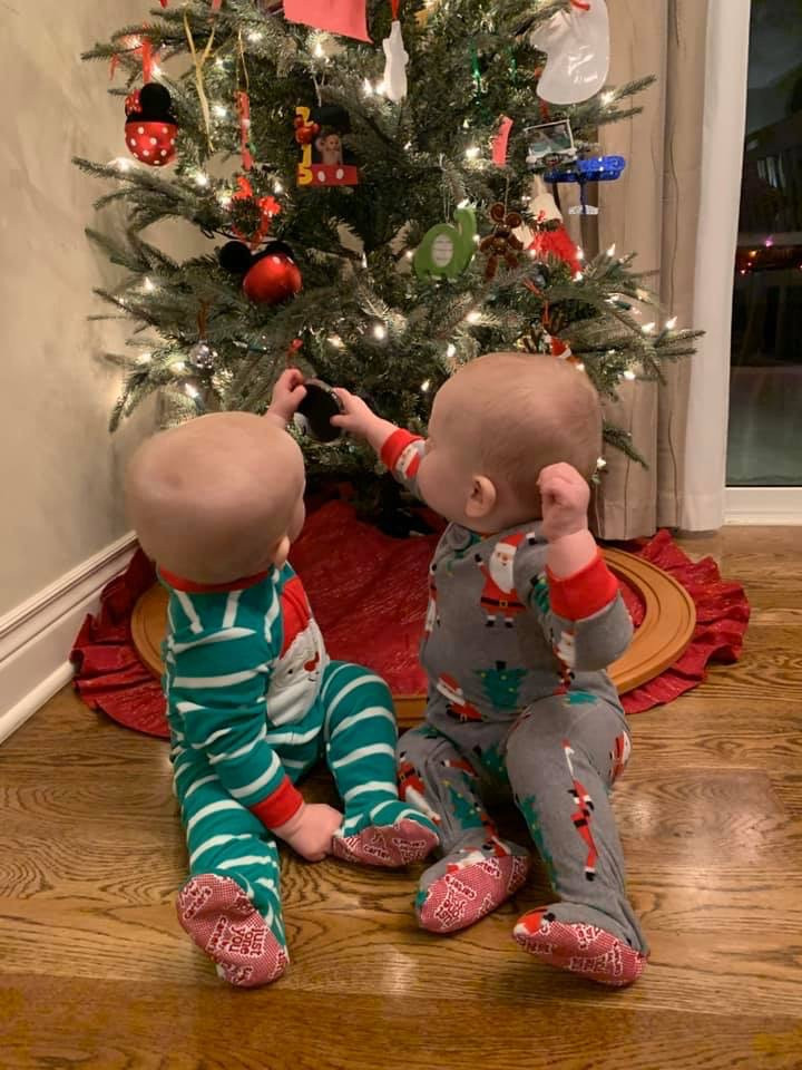 Our Twins on Their First Christmas--2019