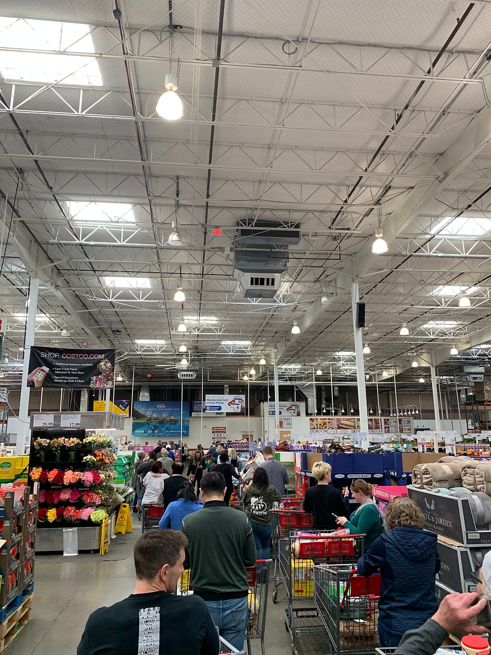 The Costco Line Today in Kansas City, 3/12/20