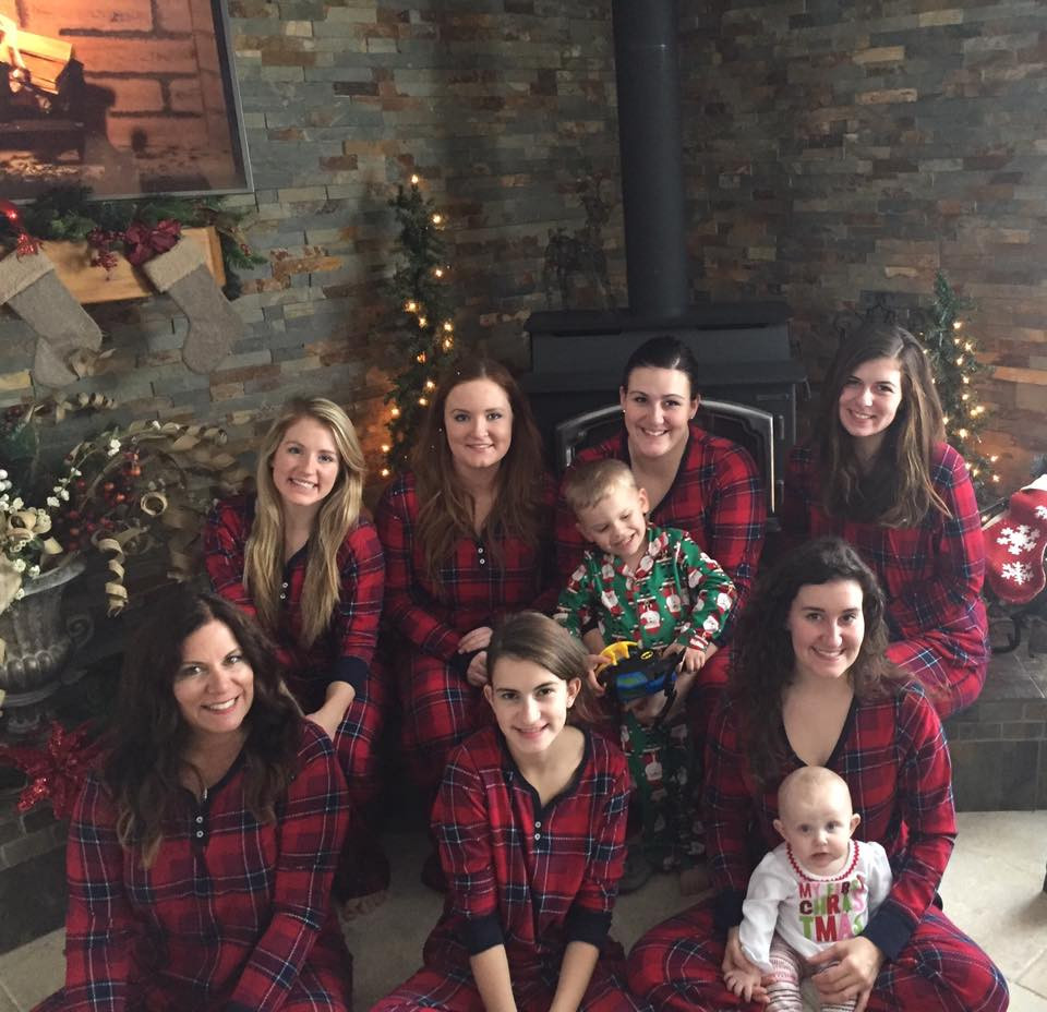 My Girls and Me, (Minus Cassie), Christmas 2017
