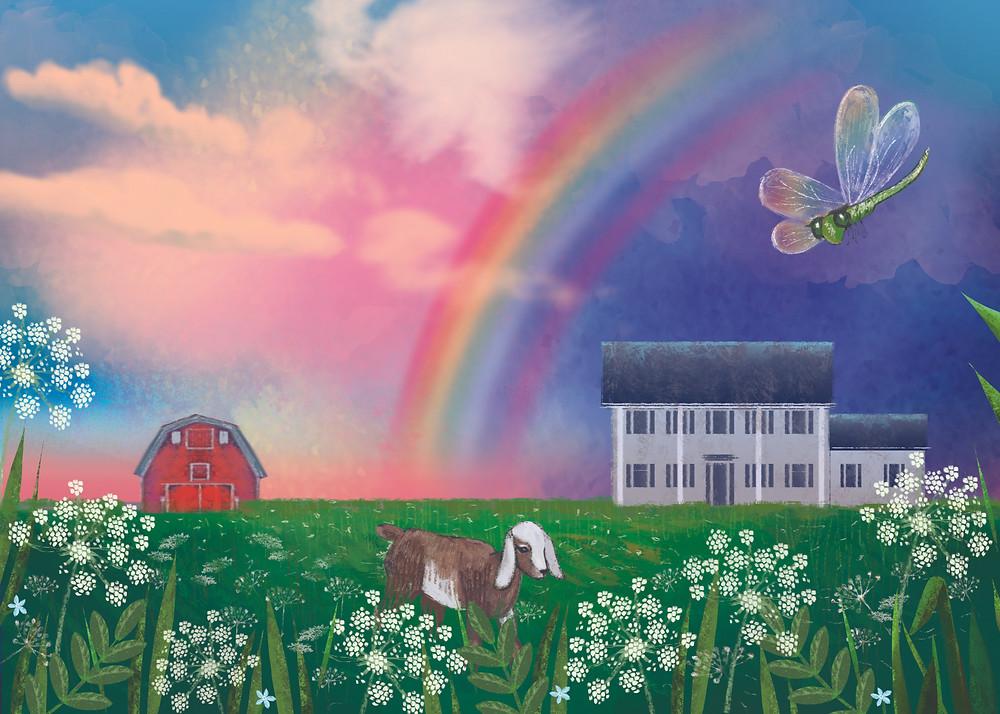 Rainbow Land by Kate Zotova, 2020