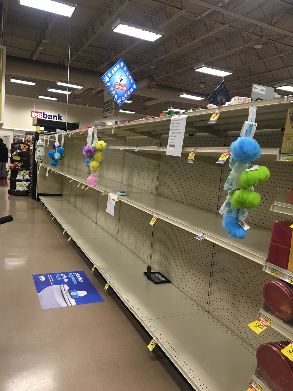Another Photo of San Diego Shelves, 3/12/20
