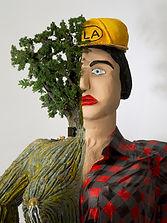 camille goujon, sculpture, bucheronne,