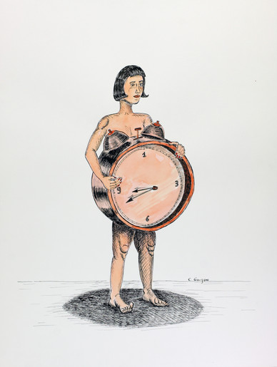 Femme en-clock