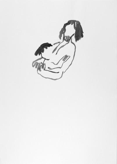 Dessin à l'encre de chine, papier A4, Camille Goujon
