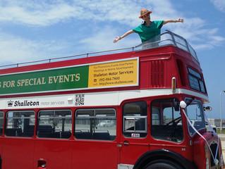 TV収録にロンドンバスを車両提供しました。