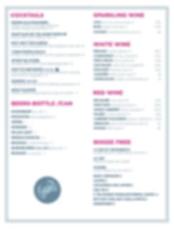 GrandCatch-Dinner Drinks menu- Dec 2019-