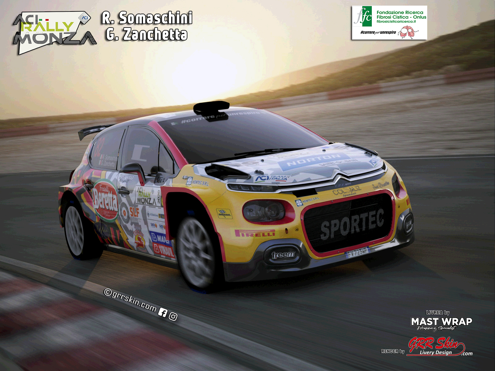 Citroen C3 R5 Somaschini Aci Monza 2020
