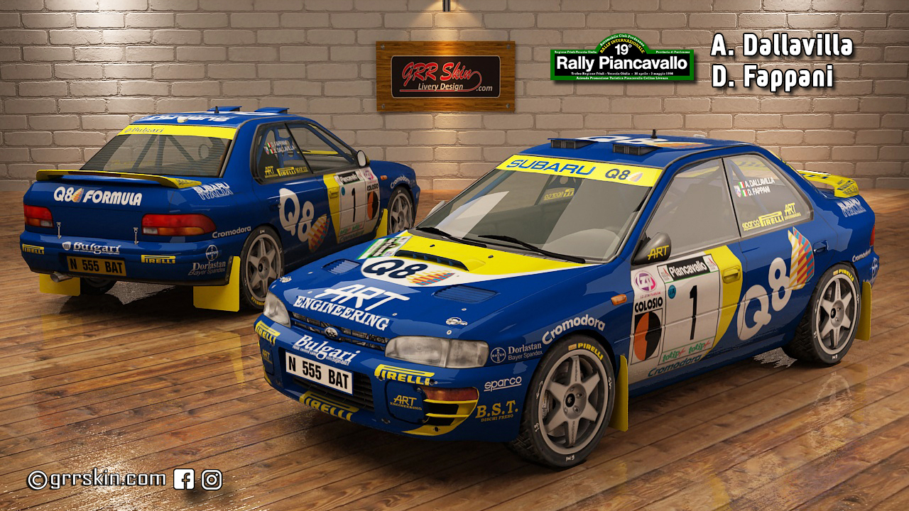 Subaru Impreza 95 Dallavilla Rally Painc
