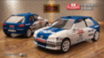 Peugeot 306 gr.A Andreucci Sanremo 1995.