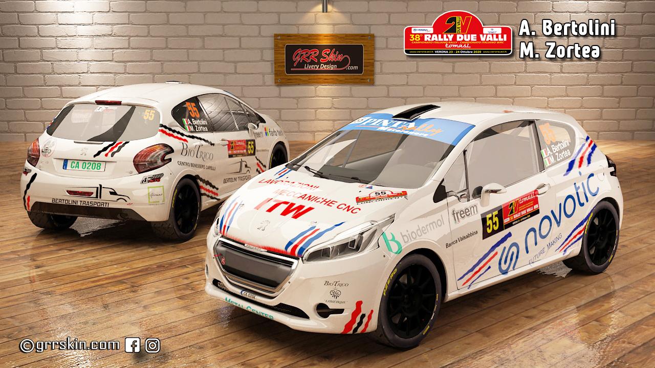 Peugeot 208 R2 Bertolini 2 Valli 2020