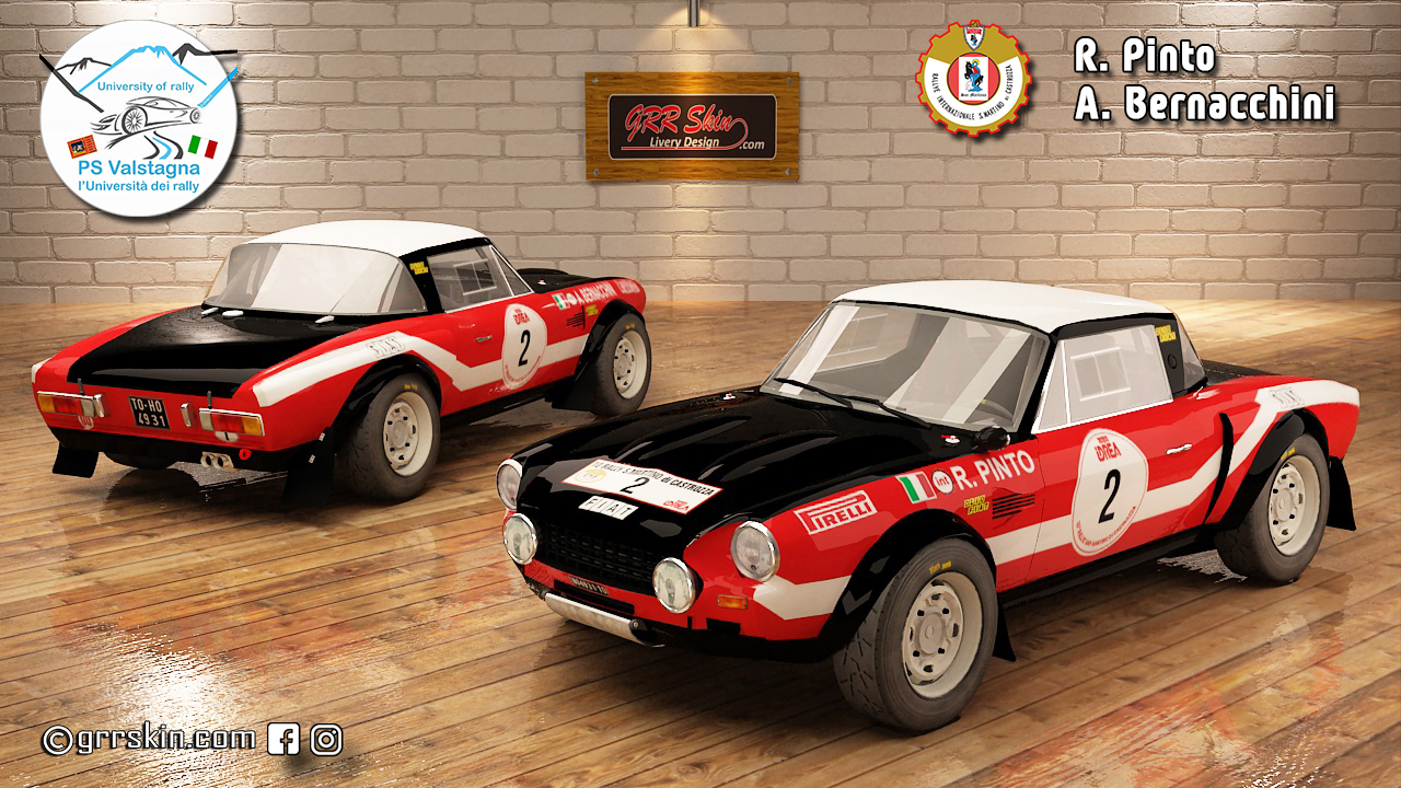 Fiat 124 Abarth Pinto Rally San Martino