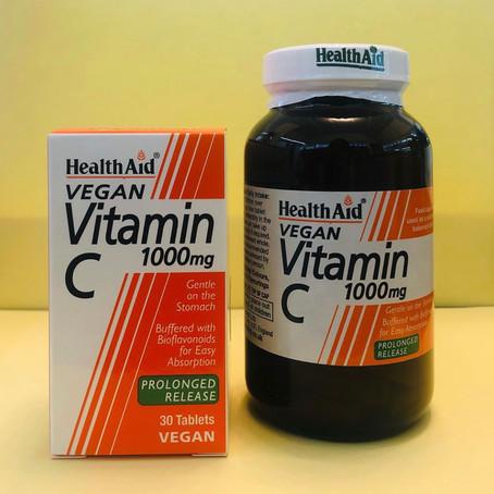 Vegan Vitamin C 1000mg a Lento Rilascio - Health Aid