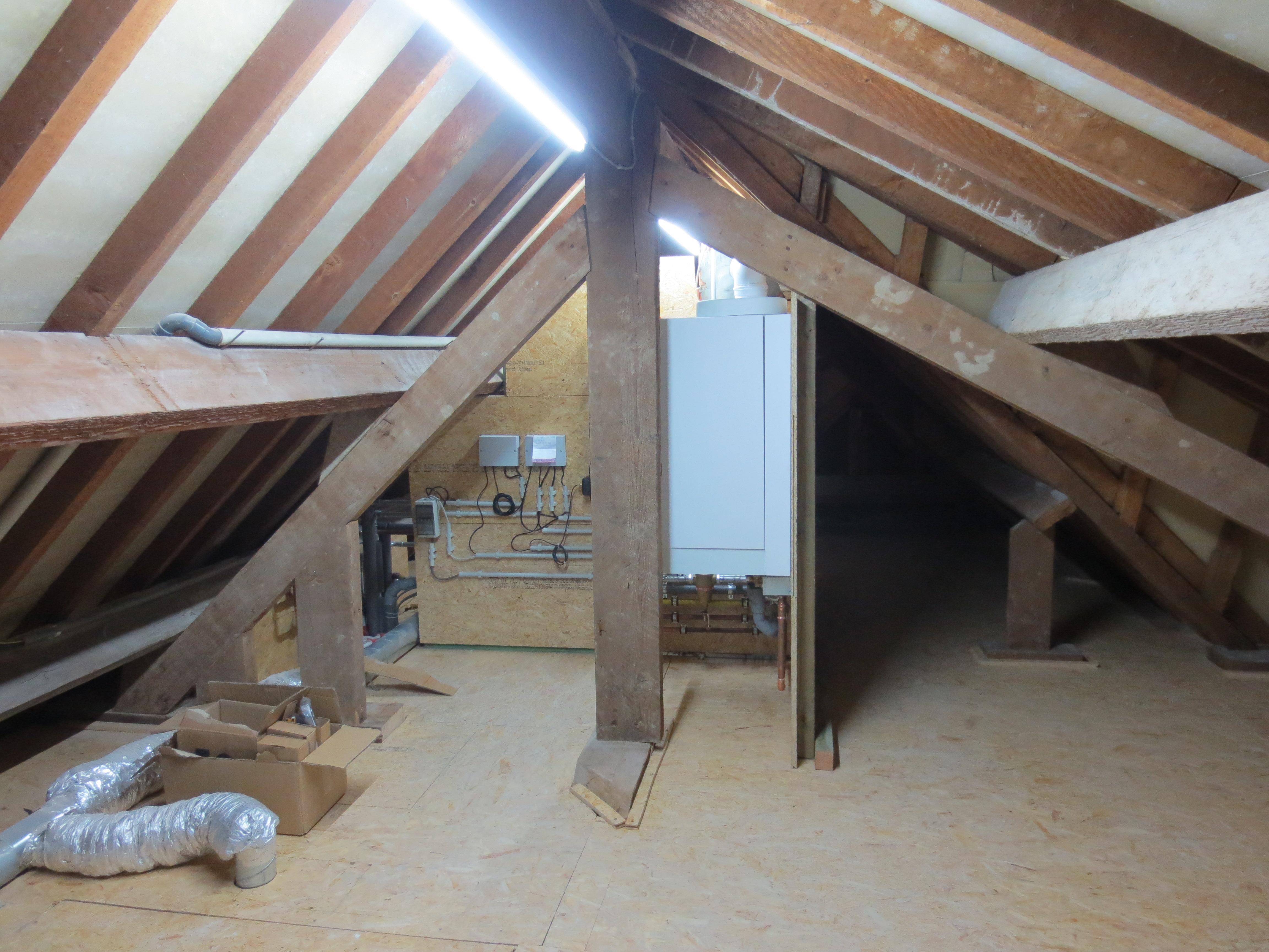 Nieuwe technische ruimte op zolder