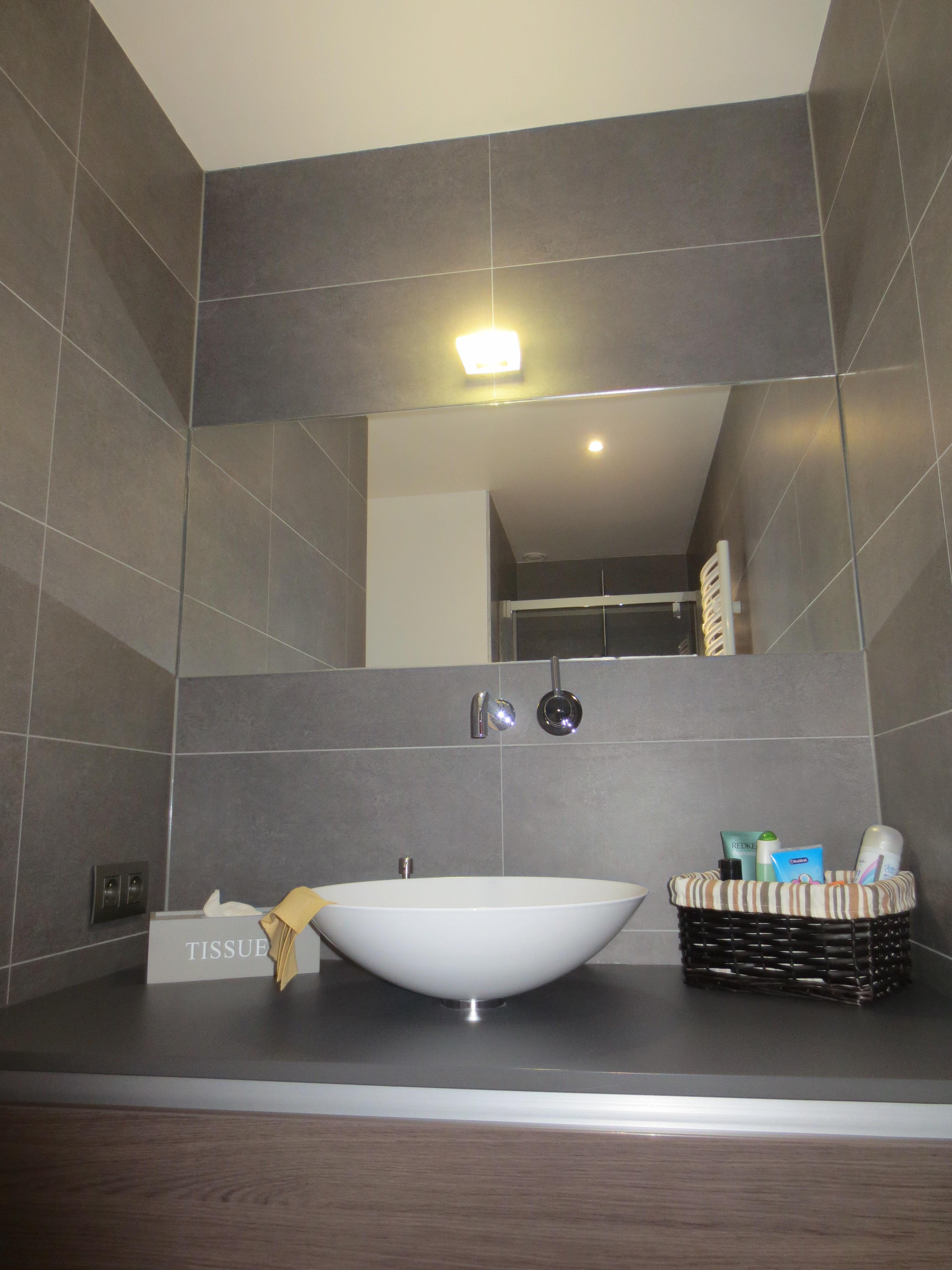 Afgewerkte kleine badkamer
