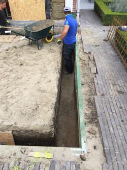 Uitgraven Funderingssleuven en Vloer