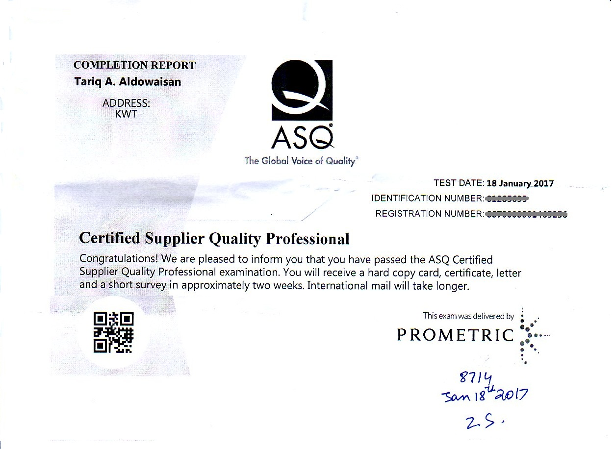 Certified Supplier Quality Professional Csqp Glc Im
