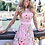 Thumbnail: Floral Embroidery Dress Sheer Mesh Summer Boho Mini A-line Dress
