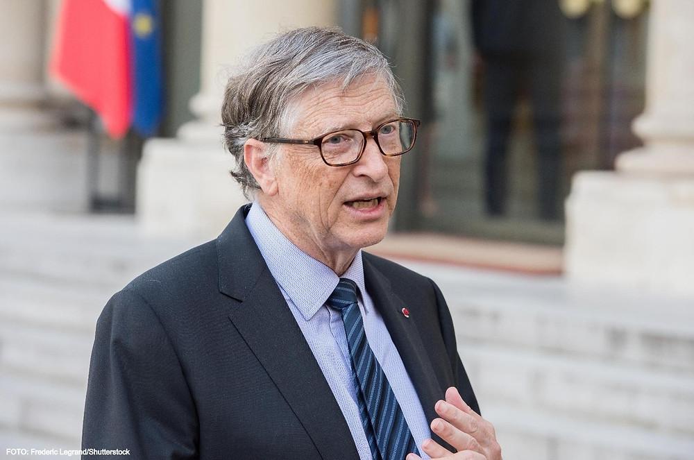 Bill Gates nega as teorias de conspiração.
