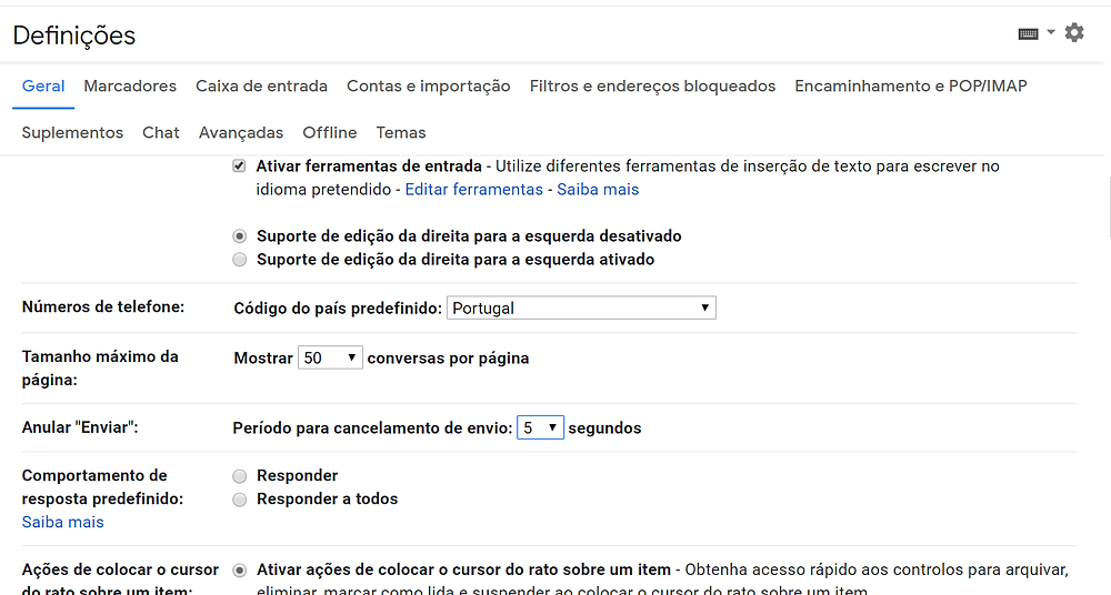 ALTERAR O TEMPO PARA ANULAR O DE ENVIO DO E-MAIL