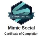 Certificado Stukent Mimic Social Julho20