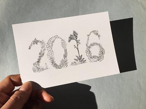 2016 POSTCARD B/W