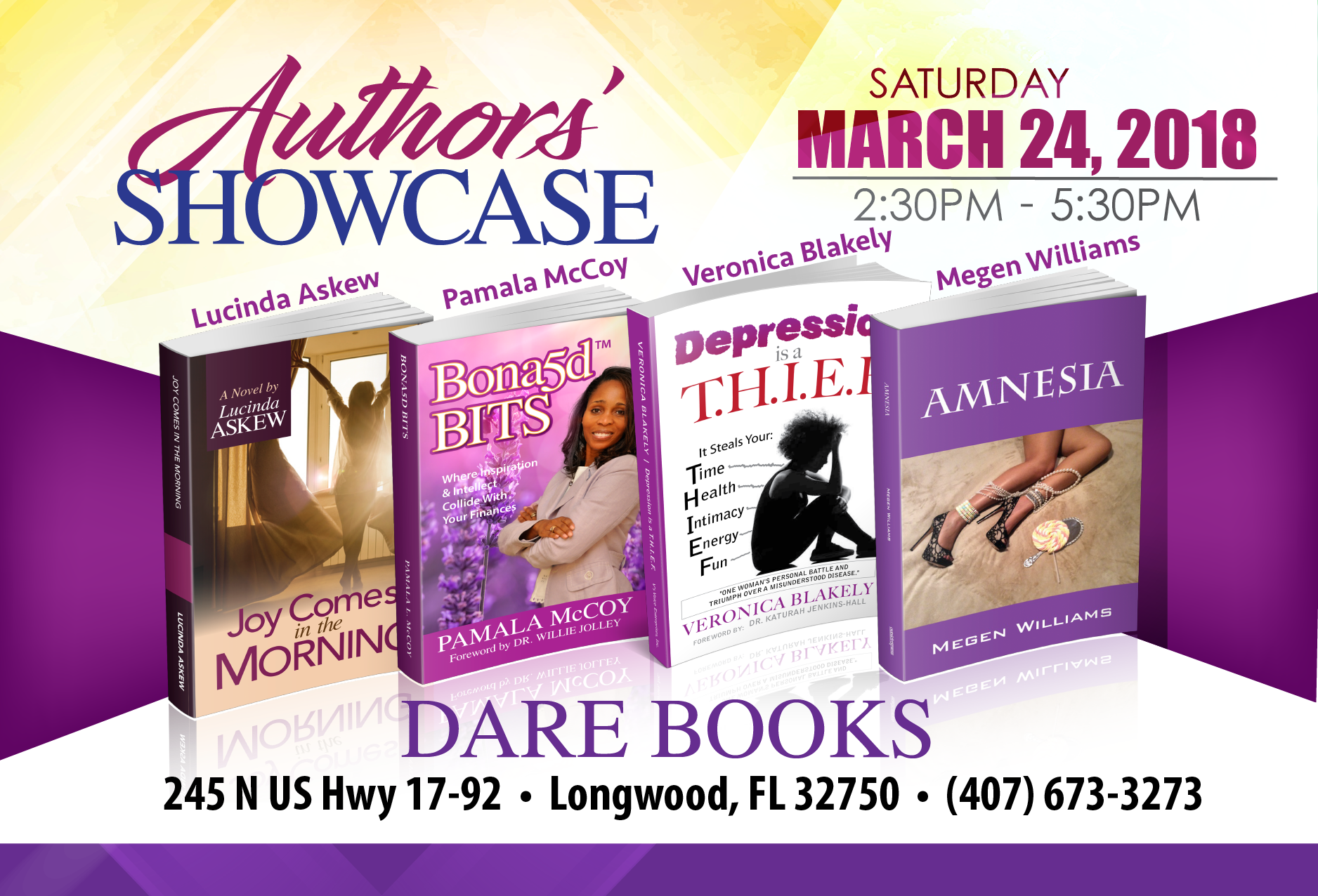 2018 - Authors Showcase - Mar 24