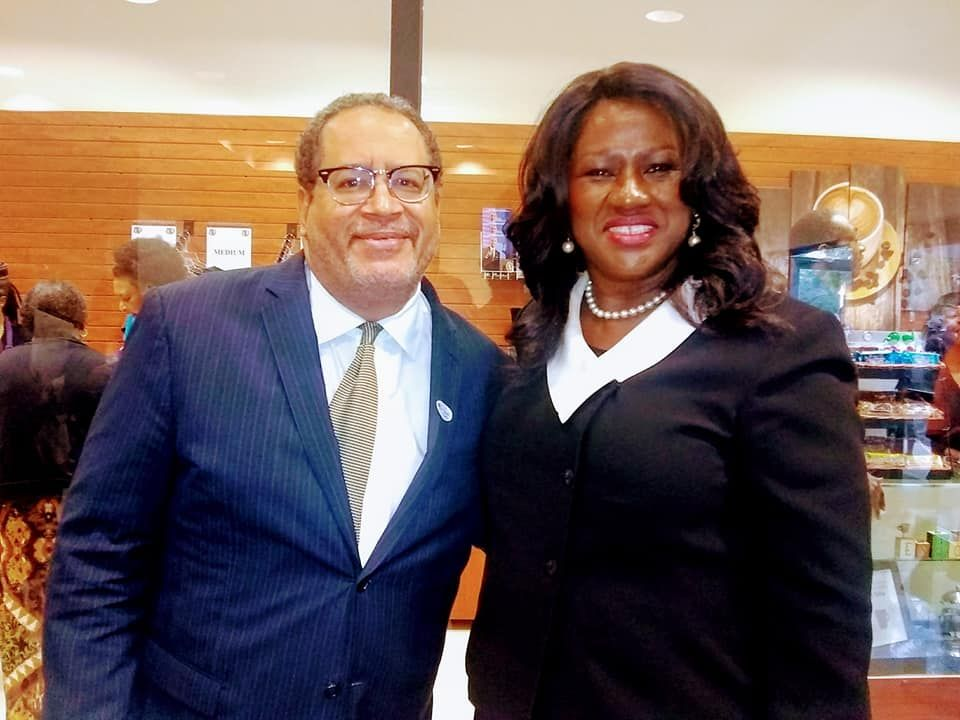 Dr. Michael Eric Dyson and VB