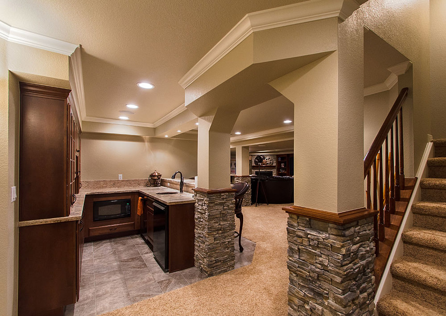 Finished Basements Bar Ideas