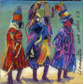 A Painting a Day #63 -  Roatan Rhthym