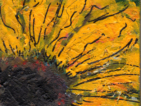 A Painting a Day #9 - Sunflower Petals