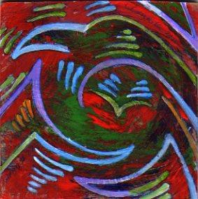A Painting a Day #77 -  Bird Mandala